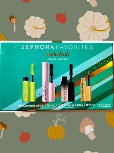 NIB Sephora Favorites Lashstash 4 Piece Mascara Wardrobe