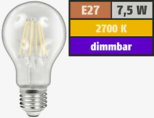 LED Lampe dimmbar E27 800 Lumen warmweiß wie 75 Watt Glühbirne Filament Birne