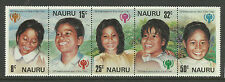 NAURU 1979 YEAR of the CHILD. STRIP OF 5 MNH