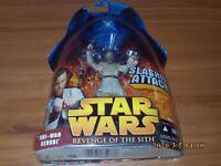 STAR WARS Revenge of the Sith OBI-WAN KENOBI Slashing Lightsaber Action Figure