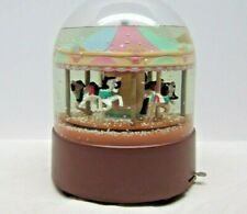 Vintage Wind Up Willitts Design Musical Carousel Horse Snow Globe