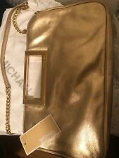 Michael Michael Kors  Gold Berkley Clutch  OSFA  MSRP: $198