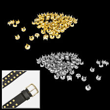 Diamond Cut Dome Studs 5mm Gold Silver for Crafts Clothes Purses Embellishment