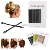 36 Long Large 5cm Hair Grips Clips Bobby Waved Pins Slides Black Brown