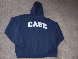 CASE WESTERN RESERVE blue CHAMPION Hoodie Sweatshirt men's 2XL