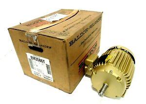 "NEW BALDOR EM3586T MOTOR 2HP 230/460V 3490 RPM 145T 05C001X117E7 7/8"" DIA."