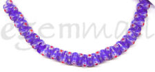 SALE 42 Blue Lampwork Glass Peanut Beads 6x12 #87011