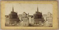 Parigi Palais Da Justice Francia Foto Stereo PL55L1n Vintage Albumina c1865