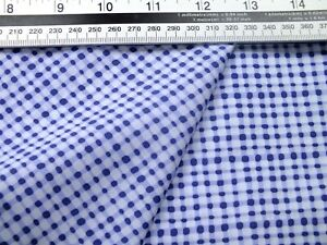 3 meters piece .65% /35% cotton blue and white spot