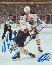 MARCUS FOLIGNO & MIKHAIL GRIGORENKO SIGNED BUFFALO SABRES 8X10 PHOTO