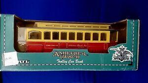 ERTL Anheuser Busch Die Cast Metal Trolley Car Coin Bank 1/43 Scale B601  1994