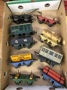 Hornby O Gauge Lot Of 9 Goods Wagons