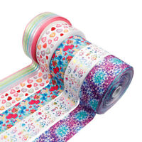 "2yards 3"" 75mm Unicorn Heart Printed Rainbow Color Grosgrain Ribbon DIY Material"