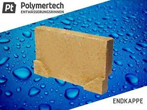 Endkappe für Polymerbeton Entwässerungrinne 13 cm breit mit/ohne Rohrstutzen