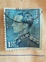 N°321 Timbre oblitéré trace charnière BE Belgique - 1939 Léopold III