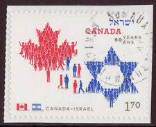 CANADA  2010 CANADA ISRAEL BOOKLET STAMP FINE USED