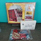 AHM 15808 HO Scale Building Kit - Firehouse w/ Fire Engines Detailed interior