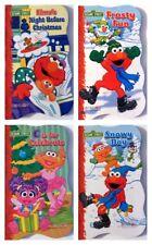 Christmas Sesame Street Baby BOARD BOOKS  Elmo, Zoe, Abby ~ Set of 4