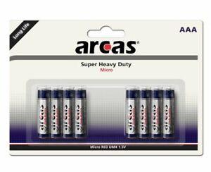 Arcas Super Heavy Duty Zink-Kohle AAA Micro LR3 8er Blister