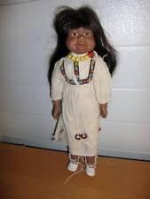 "Unbranded ~ Vintage 15"" Porcelain Maiden/Squaw Doll"