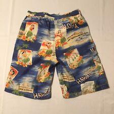 Polo Ralph Lauren Men's Shorts Blue Hawaiian Swim Trunks Size S ALOHA