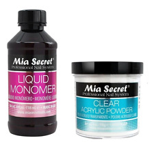 Mia Secret 4 Oz Liquid Monomer 4 Oz Clear Acrylic Powder Professional Nail Set