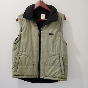 Trespass S Mens Green Puffa Puffer Vest Zip Up Warm w Pockets