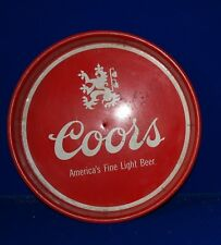 """Coors metal beer tray red with white graphics 13"""""""