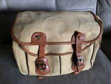 Original Vintage Billingham Camera Bag Canvas & Leather