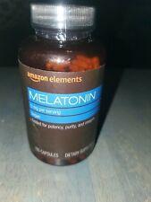 Amazon Elements Melatonin 5mg, Vegan, 195 Capsules Free Shipping Sealed