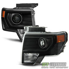 Projector Style Headlamps For 2009-2014 Ford F150 Halogen Headlights Left+Right