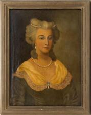 CONTINENTAL SCHOOL, 19th Century, Portrait of a woman wearing a pearl... Lot 644