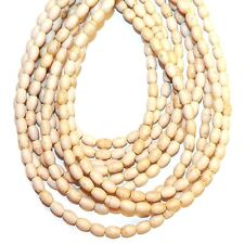 """NG2695j Creamy White Turquoise 6mm Tapered Oval Magnesite Gemstone Beads 15"""""""