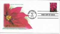 US Scott #4816, First Day Cover 10/10/13 New York Single Poinsettia
