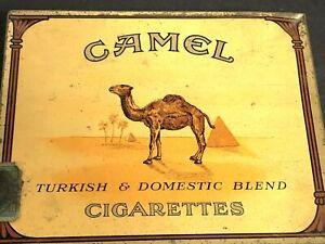 Vintage Camel Cigarettes Tin Hinged Lid 50 Camel Factory #4 North Carolina