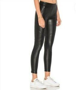 Free People Vegan Leather Legging Pull on Elastic Waistband Black Size 27