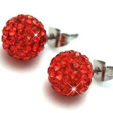 Shamballa Stud Earrings 8mm Crystal Clay Disco Ball 30 Colors To Choice