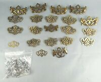 19 Vintage Metal Drawer Handles Brass Salvaged Wint P