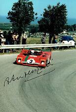 Arturo MERZARIO SIGNED Ferrari 312 12x8 Race Photo AFTAL COA Autograph