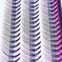 Individual 60Stand False Eyelash Flare Cluster Eye Lashes Knotted/Knot 6-12mm Sy