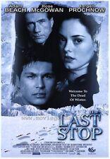 THE LAST STOP Movie POSTER 27x40 Adam Beach Juergen Prochnow Rose McGowan Callum