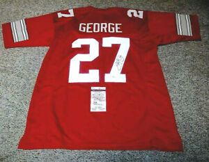 Eddie George Autographed Signed Ohio State XL Jersey 1995 Heisman - JSA
