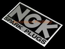 "2x 8.5"" 21.6cm NGK Spark Plugs Decal Sticker iridium vintage WRC Rally SCCA NHRA"