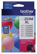 GENUINE Brother LC203C XL Magenta Ink for MFC-J4320DW, MFC-J4420DW, MFC-J4620DW
