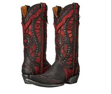 Old Gringo RARAMES VINTAGE Black Red Cowboy Cowgirl Western Boots 7 Womens