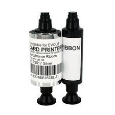 R2017 Silver Ribbon for Evolis Pebble Series Card Printer Resin 1000 Print/Roll