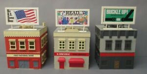 K-Line O Scale Assembled Building Kits: Restaurant, Bank & Newspaper [3]
