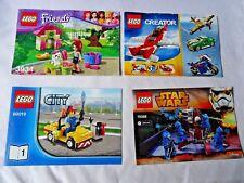 Lego 4 instrucciones solo 6741/60019/3934/75008