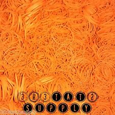 800+ Rubber Bands #12 size Pumpkin Orange Tattoo Machine supply 1/4 pound needle