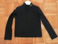 Shirt schwarz Gr. 86 92 Langarm Stehkragen Burani gebraucht